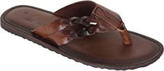 VONZO Men Brown Slip On Casual Slipper Flip Flops