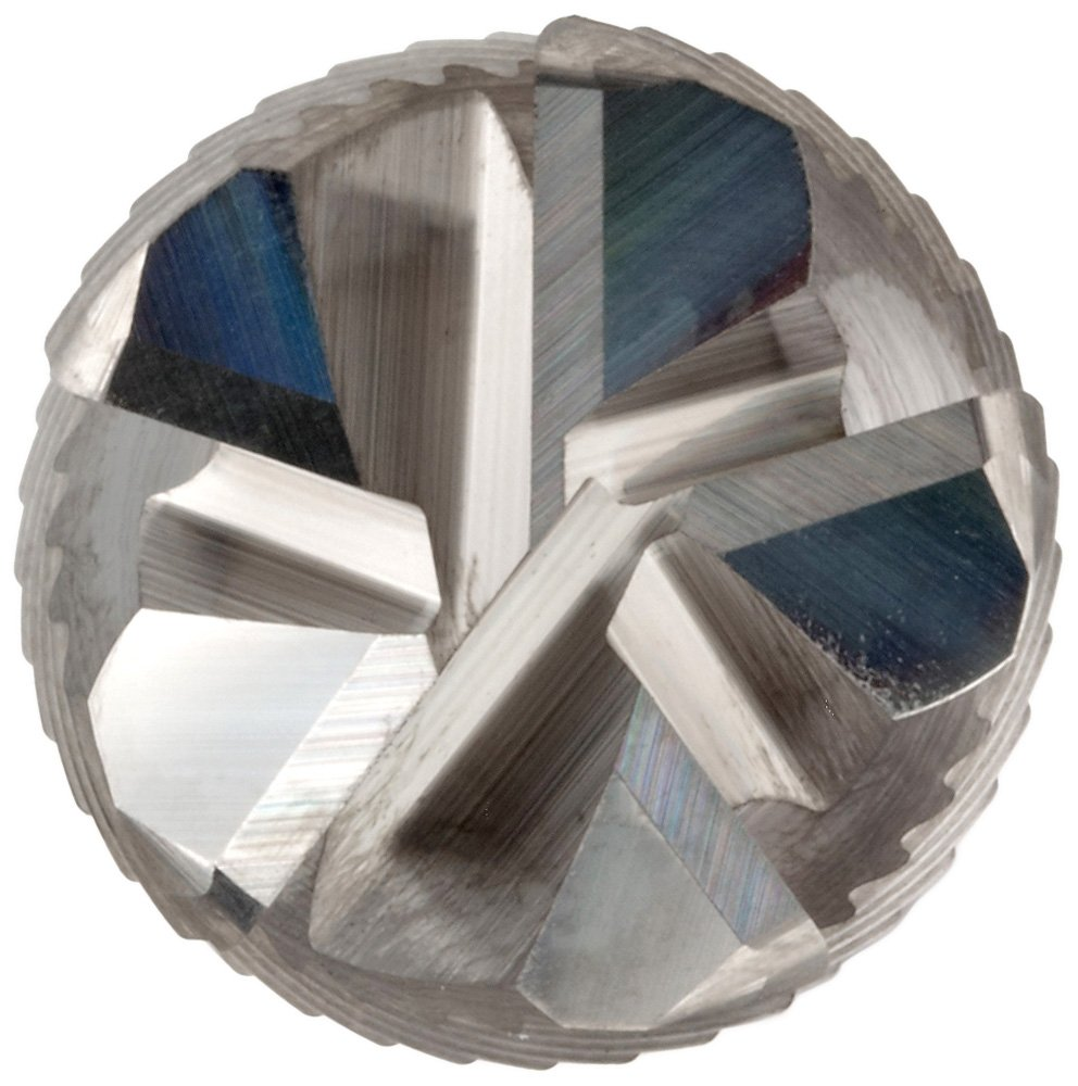 45 Deg Helix 1 Cutting Diameter YG-1 E5056 Carbide Corner Radius End Mill Uncoated 0.060 Corner Radius 3 Overall Length 5 Flutes 1 Shank Diameter Finish Bright Weldon Shank