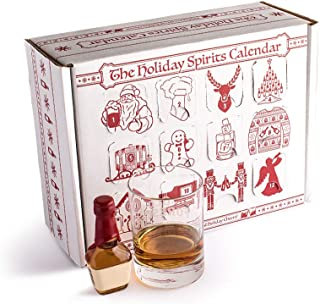 Advent Calendar for Alcohol & Adults | Gift Booze & Wine for Christmas 2019 | Great White Elephant & Holiday Party Hostess Present Idea | Alcohol Not Included. (1, Spirits)