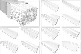 Marbet plafondlijsten van piepschuim XPS - hoogwaardige stuclijsten licht en robuust in modern design - (50 meter voordeel...