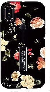 iPhone 7/8 Plus Case Finger Grip,YTamazing 3D Embossed Flowers Design Rugged Shockproof Slim Fit Dual Layer Finger Ring Loop Strap Case Finger Strap iPhone 7/8 Plus(Red Flowers, 7+/8+)