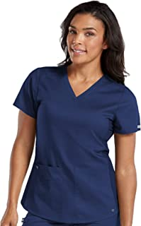 Touch Women's V-Neck Shirttail Scrub Top
