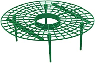 Quaanti Upgraded Plant Cradle Rack,5 Pack Strawberry Plant Growing Supports,Plastic Coating Plant Stem Support Keeping Fruit Elevated Avoid Ground Rot for Strawberry Gardening Supplies (Green)