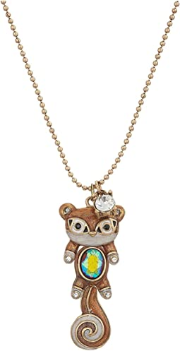 Betsey Johnson - Brown and Gold Squirrel Pendant Necklace