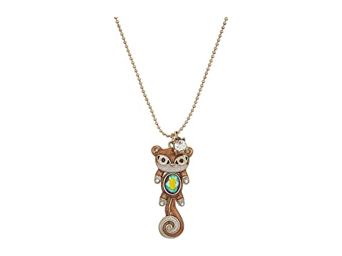 Betsey johnson brown and gold squirrel pendant necklace at zappos main aloadofball Gallery