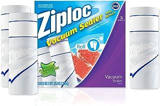 Ziploc ZL38X20PK3 Vacuum Seal Roll, 38-Inch x 20-Feet, White