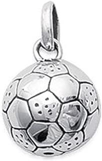 Pendentif BALLON de FOOTBALL en PLAQUE OR 18 carats NEUF CHAÎNE en OPTION