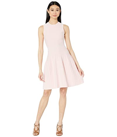 Ted Baker Stitch Detail Knitted Sleeveless Dress (Baby Pink) Women