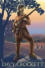Davy Crockett (12x18 Art Print, Wall Decor Travel Poster)