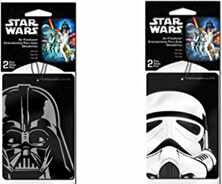 Star Wars Darth Vader and Storm Trooper Air Freshener 2 Pc Each Style - Total of 4 pcs