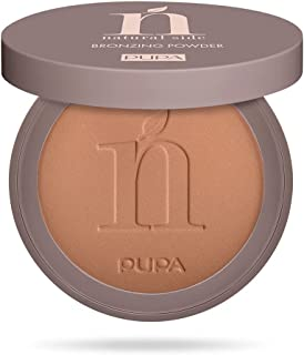 Pupa Milano Natural Side Bronzing Powder - Compact Bronzing Powder 99.9% Ingredients of Natural Origin - Gives Your Face a...