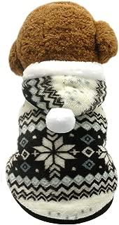 Beirui Christmas Cute Fleece Dog Jacket - Small Dogs Yorkie Winter Coat Soft Flannel Pajamas Padded Vest - Warm Pet Puppy Jumpsuit