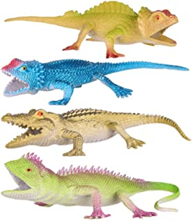 NUOBESTY Lizards Crocodiles Figure Realistic Animal Model Sculpture Ornaments Kids Playing Toys for Kids Children Toddlers...