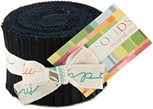 Bella Solids Black Junior Jelly Roll 20 2.5-inch Strips Moda Fabrics 9900JJR 99