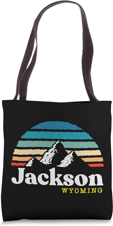 Jackson, Wyoming - USA Ski Resort 1980s Retro Tote Bag