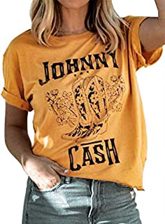 YourTops Women Johnny Cash Graphic T-Shirt