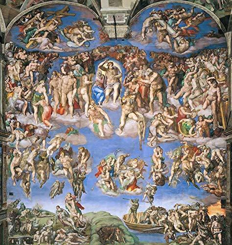 O Juízo Final de Michelangelo - 75x78 - Tela Canvas Para Quadro