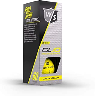 Wilson Staff Duo Professional Pro Spin Urethane Golf Balls 3 Count Sleeve