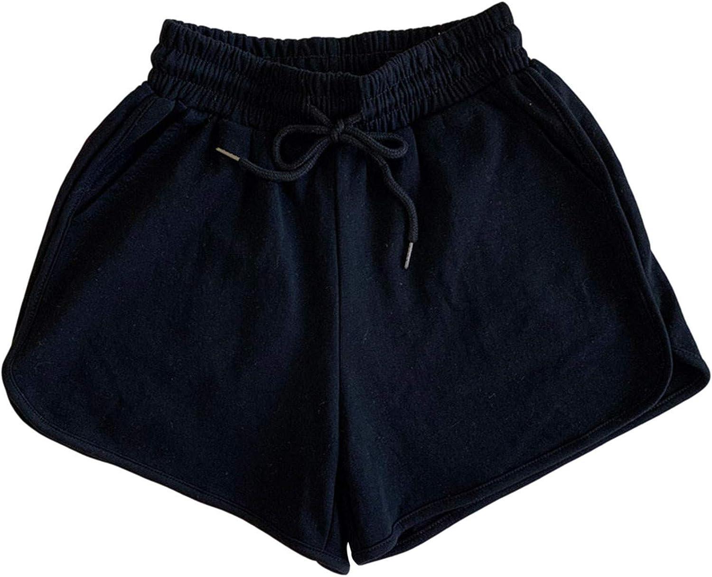 SUNTIN 2021 Womens Plus Size Comfy Drawstring Casual Elastic Waist Pocket Loose Shorts Pants