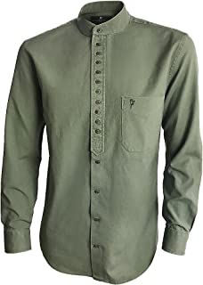 Traditional Irish Grandfather Collarless Shirts for Men