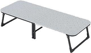 Lit pliant Lit de pliage Matelas en aluminium simple pliable Surface inclinable Matelas de confort Léger Compact polyvalen...