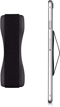 kwmobile Smartphone Fingerhalter Griff Halter - Selbstklebende Handy Fingerhalterung - Finger Halter für z. B. iPhone Samsung Sony Handys Schwarz
