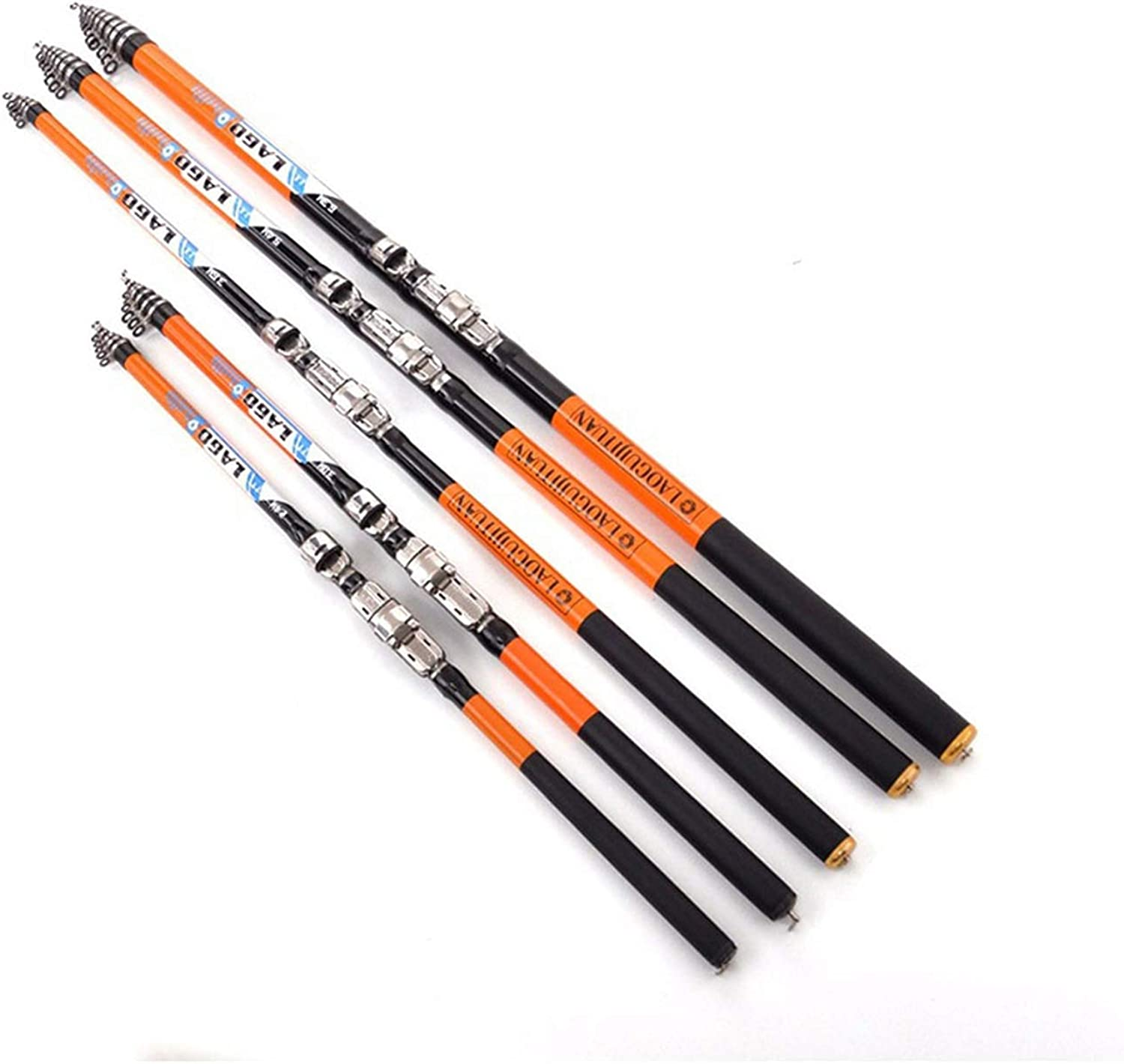 Rock Fishing Rod 2.4m 2.7m 3.0m 3.6m 4.5m 5.4m 6.3m Carbon Fiber Telescopic Fishing Rod