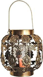 Outdoor Lantern Candle Lantern Retro Wind Lamp Moroccan Iron Patio Lanterns Outdoor Lanterns for Patio (Color : Metallic, ...