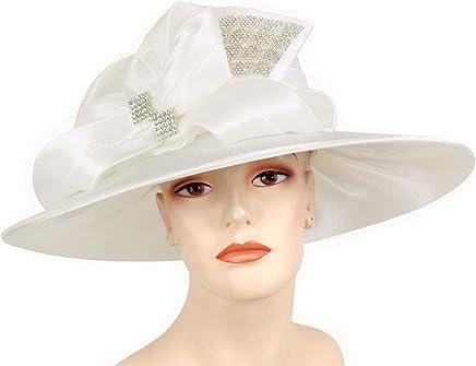 57a611ba40c Ms Divine Women s Satin Year Round Church Dress Formal Hats  HL53