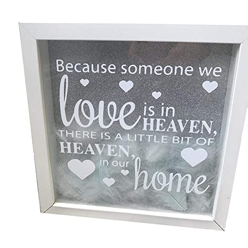 0c466564115a Little Secrets Childrens Clothing Heaven Quote Glitter Box Frame with  Feathers inside