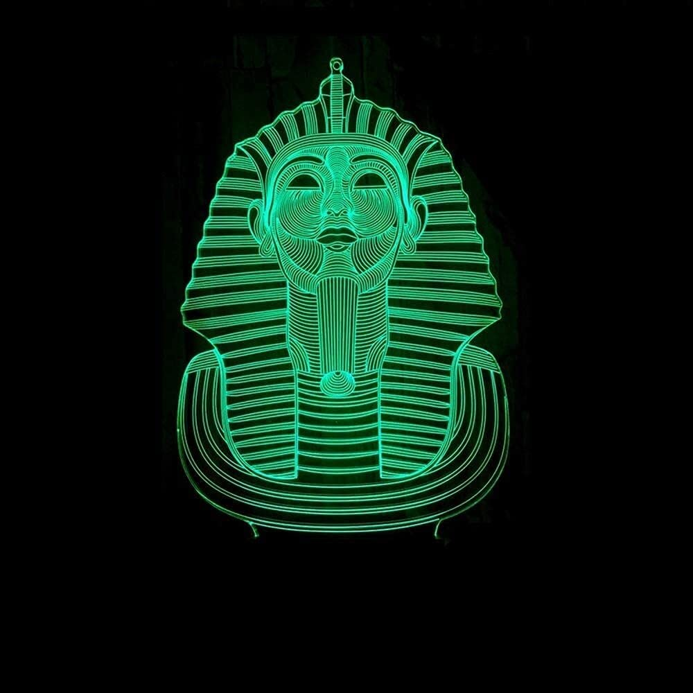 Heizlüfter Sphinx Over item handling LED Lamp Max 89% OFF Colorful Gradient Stereoscopic 3D Tou
