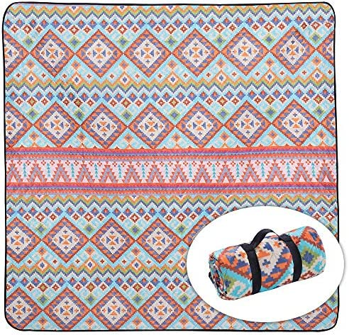 WOLF WALKER Picnic Blanket 79 x79 Extra Large Waterproof Outdoor Foldable Blanket Lightweight product image