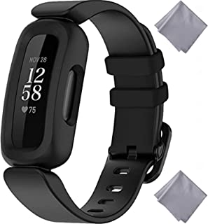 ELECTRFIRE Bands Compatible with for Fitbit Ace 3 for Kids, Soft Silicone Waterproof Bracelet Accessories Sports Watch Str...