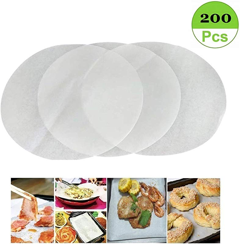 Set Of 200 Non Stick Round Parchment Paper 8 Inch Diameter Baking Paper Liners Round For Cake Pans Circle