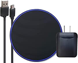 Official ATT Fast Qi Wireless Pad with Fast Charger Black- for Galaxy S8,S9,+,Note8,Note9,iPhone 8,+,X,XS,XR,Max (Renewed)