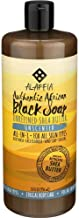Alaffia - Authentic African Black Soap, All-in-One Body Wash, Shampoo, and Shaving Soap, All Skin and Hair Types, Fair Trade, No Parabens, Non-GMO, No SLS, Unscented, 32 Ounce
