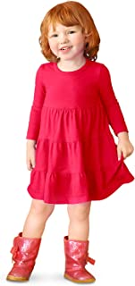 Best red tiered dress Reviews