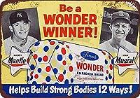 ブリキ看板1954ミッキーマントルスタンミュージカルワンダーパン再現金属記号ブリキのグッズ壁アート