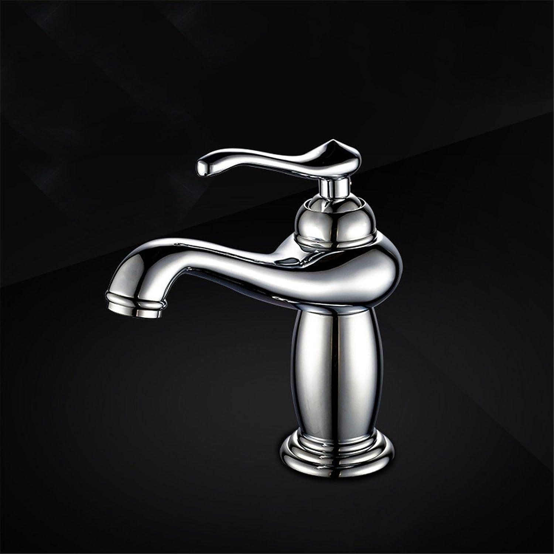 Fbict ?Hot and Cold Basin Faucet washbasin washbasin European Single Hole Faucet Bathroom Bathroom Copper Faucet, Copper Faucet (Without Inlet Pipe) for Kitchen Bathroom Faucet Bid Tap