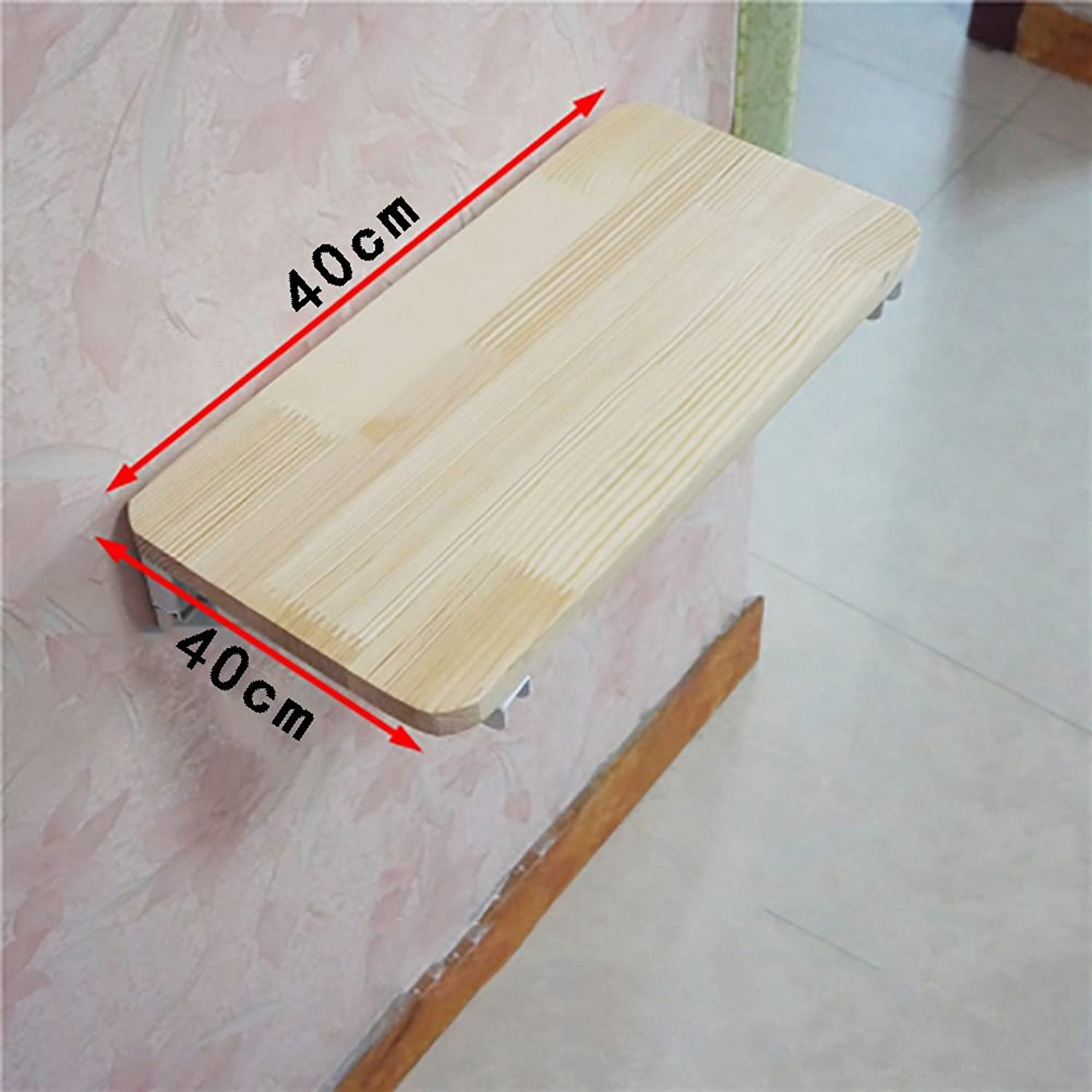 Wall Table Dining Table Folding Table Computer Table Study Desk Wall-Mounted Folding Table Multi-Size Optional (Size   4040cm)