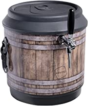 Chopeira a gelo cooler 21l para barril heineken 5l - barril preto com torneira italiana