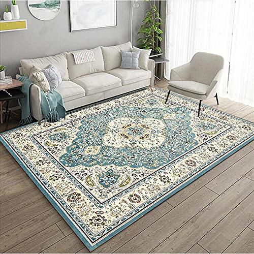 KaO0YaN,Alfombra de área de la Vendimia Persia, Tradicional Oriental Persa, Tirar alfombras de Pila Baja, Mancha Resistente, salón Comedor(1,100x200cm)