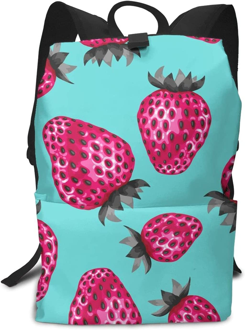 Fruit SEAL limited product strawberry on Inexpensive blue Canfen Unisex Adult Backpack