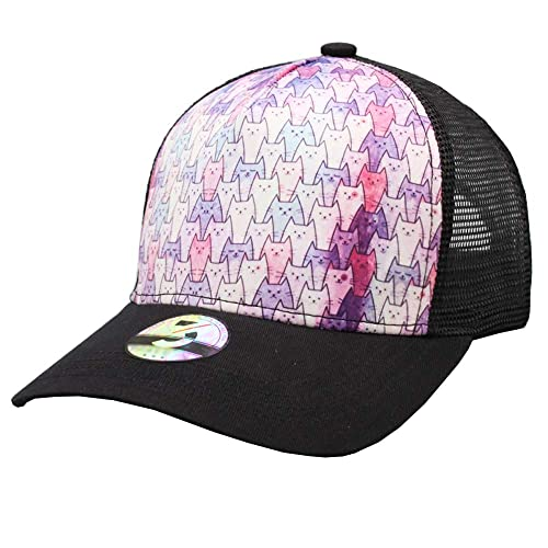 Odelia Walter Unisex Cute Cat Dad Hat Mesh Trucker Hats Baseball Cap  Adjustable (Cute Cat 24ee3df0f23