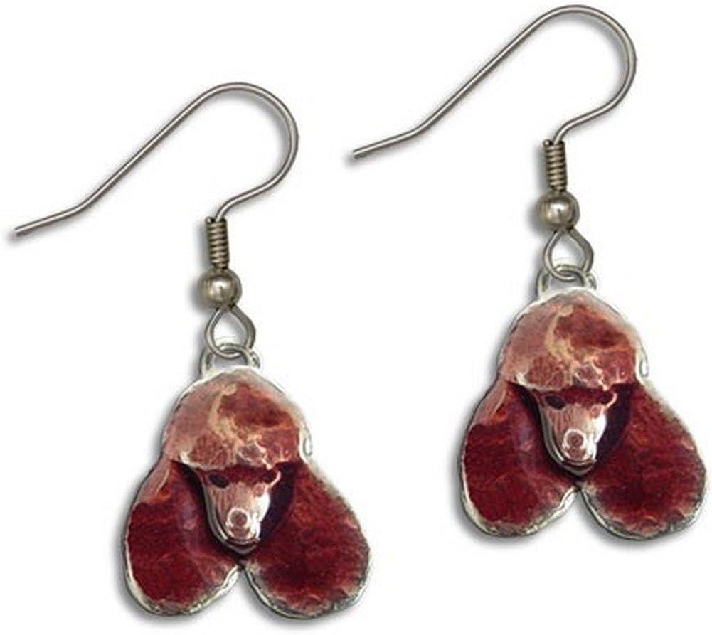 Enamel Chocolate Poodle Earrings Magic 100%品質保証! 優先配送 Zoo by The