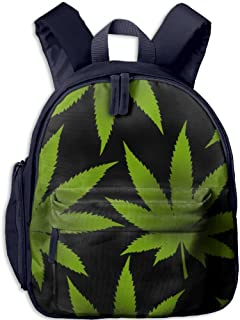 Pinta Marijuana Leaf Cub Cool School Book Bag Backpacks for Girl's Boy's