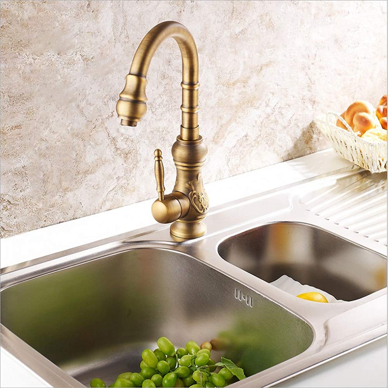 Becken Wasserhahn, Einhand-Küchenwaschbecken Wasserhahn alle Kupfer heies und kaltes Wasser Wasserhahn Waschbecken Wasserhahn (Farbe   20cm)