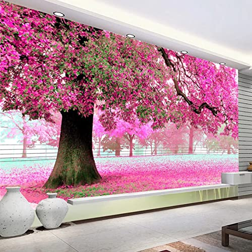 Revestimiento de pared de flor de cerezo romántico, decoración de interiores 3D