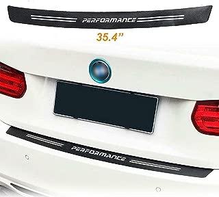 Xoitc Tech Car Trunk Carbon Fiber Texture Decal Rear Bumper Guard Protector Decor Sticker Vinyl Decal Sport Performance for BMW 1 2 3 4 5 6 7 M3 M4 Z4 Series (Length:35.4