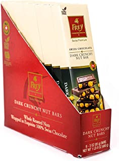 Frey Chocolat Dark Crunchy Nut Bar - 3 oz - 16 Pack Chocolates